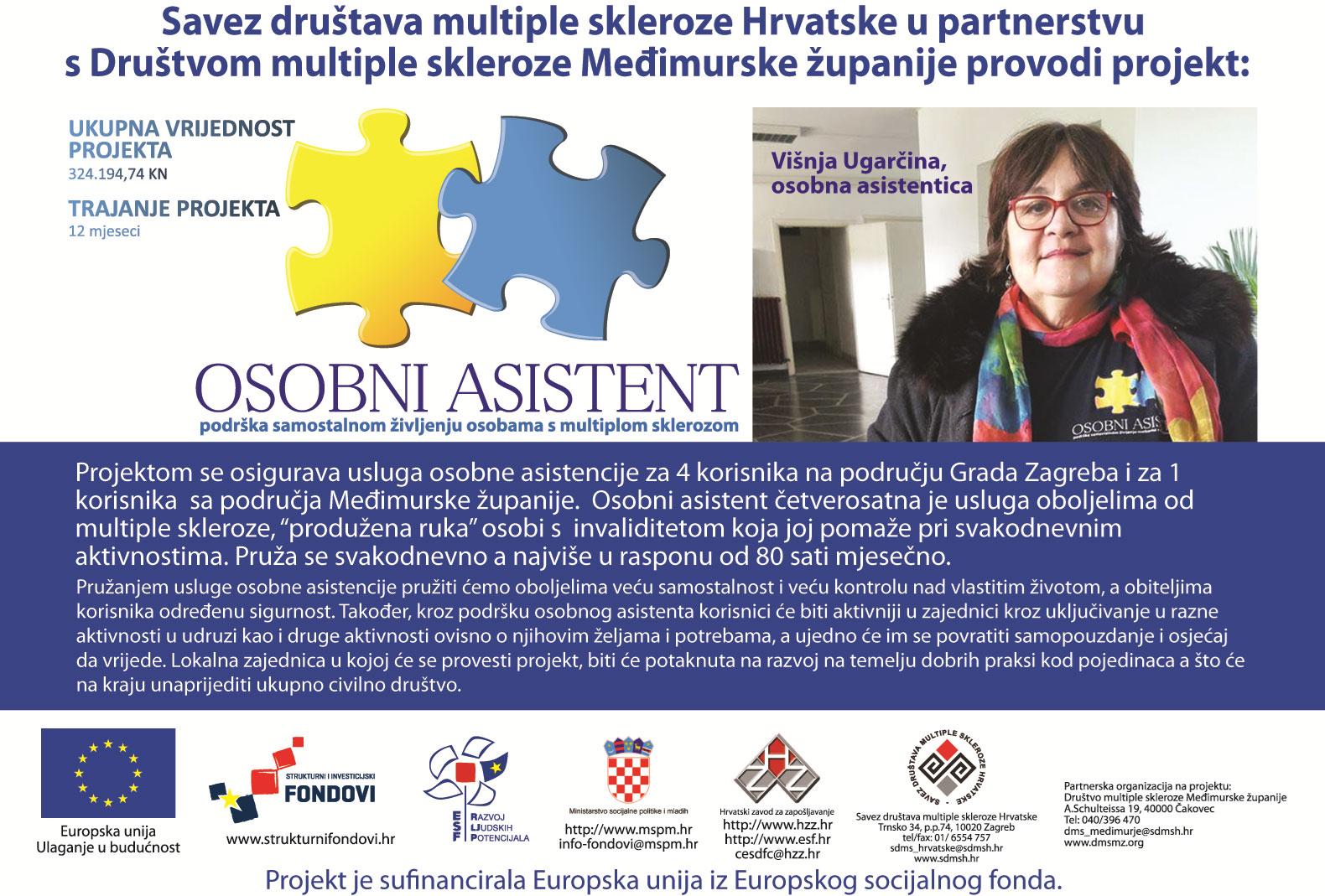Osobni asistent – podrška samostalnom življenju osobama s multiplom sklerozom